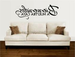 Bienvenidos A Nuestra Casa Spanish Vinyl Decal Wall Sticker