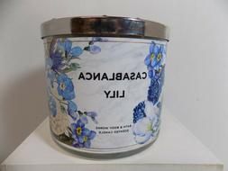 Bath and Body Works Casablanca Lily 3 Wick Candle -Lily, Sof