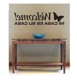 Decorative Wall Vinyl Decal Welcome Mi Casa Es Su Casa Wall