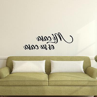 vinyl wall art decal mi casa es