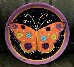 Laurel Burch Butterfly Plate Salad Dessert Rare Ganz Bella C